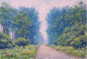 風景画 ポプラの並木1