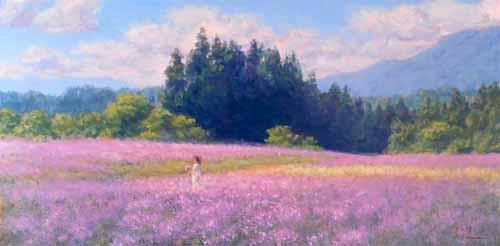 風景画 ラベンダー畑2
