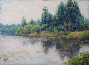 風景画 瞑想の森